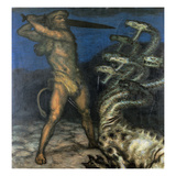 Herkules Und Die Hydra, 1915 Giclee Print by Franz von Stuck