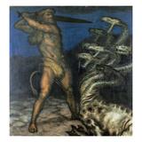 Herkules Und Die Hydra, 1915 Gicleetryck av Franz von Stuck