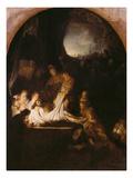 Grablegung Christi, 1639 Giclee Print by  Rembrandt van Rijn
