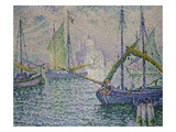 Venice with Sailboats (Le Redempteur), 1908 Art by Paul Signac
