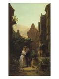 Der Abschied, um 1855 Gicléetryck av Carl Spitzweg