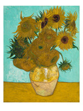 Vase with Sunflowers, 1888 Reproduction procédé giclée par Vincent van Gogh