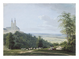 Banz Abbey from the South Side Giclee Print by Ludwig Neureuther