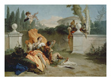 Rinaldo and Armida Surprised by Ubaldo and Carlo Giclee Print by Giovanni Battista Tiepolo