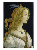Idealized Portrait of a Lady (Allegedly Simonetta Vespucci), about 1480 Giclee Print by Sandro Botticelli