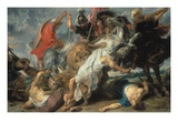 Lion Hunt, 1621 Giclee Print by Peter Paul Rubens