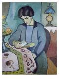 Frau Des Kuenstlers (Studie Zu Einem Portraet), 1912 Giclee Print by Auguste Macke