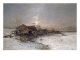 Winter Landscape Giclee Print by Anton Windmaier