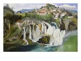 Der Wasserfall Von Jajce, 1903 Giclee Print by Tivadar Csontvary Kosztka