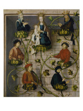 High Altar of the Dominican Church of Frankfurt: the Genealogy of Christ (Upper Part), 1501 Giclee Print by Hans Holbein