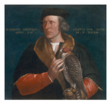 Portrait of Robert Cheseman Holding a Falcon, 1533 Reproduction procédé giclée par Hans Holbein the Younger