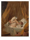 La Gimblette (Girl with Her Dog), about 1770 Giclée-Druck von Jean-Honoré Fragonard