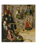 High Altar of the Dominican Church of Frankfurt: the Genealogy of Christ (Lower Part), 1501 Giclee Print by Hans Holbein