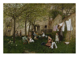 Kindergarten (Playschool), about 1882/83 Giclee Print by Johann Sperl