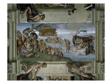Sistine Chapel Ceiling: the Flood, 1508-12 Giclee Print by Michelangelo Buonarroti