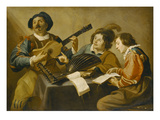 Musical Companionship Giclee Print by Theodor Rombouts