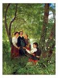 Gesang Im Gruenen Prints by Hans Thoma
