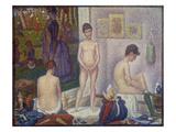 The Models (Les Poseuses). Second Version, 1888 Gicléedruk van Georges Seurat