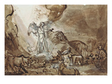 Annunciation to the Sheperds Giclee Print by  Rembrandt van Rijn