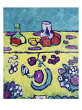Still-Life with Colourful Cloth, 1910 Giclee Print by Alexej Von Jawlensky