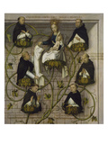 High Altar of the Dominican Church of Frankfurt: the Genealogy of the Dominicans (Upper Part), 1501 Giclee Print by Hans Holbein