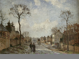 Winterliche Strasse in Louvecienne, 1872 Prints by Camille Pissarro