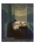Junge Frau, Beim Schein Einer Lampe Naehend, 1828 Giclee Print by Georg Friedrich Kersting