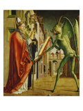 Church Father Altar. Right Outer Wing: St. Augustin and Satan Giclée-tryk af Michael Pacher