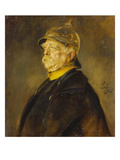 Fuerst Otto Von Bismarck Im Profil Mit Kuerassierhelm, um 1900 Giclee Print by Franz Seraph von Lenbach