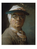 Self-Prortrait with Shield Posters by Jean-Baptiste Simeon Chardin