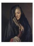 Dame Mit Schleier Giclée-tryk af Alexander Roslin