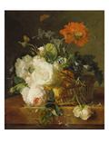 Basket of Flowers. (Undated) Giclee Print by Jan van Huysum