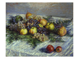Still Life with Pears and Grapes, 1880 Art by Claude Monet