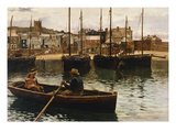 The Harbour, St.Ives, Cornwall, 1885 Giclee Print by William Henry Bartlett