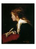 Eva. Studie Zu Milton, 1877 Giclee Print by Mihaly Munkacsy