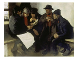 The Village Politicians, 1877 Giclee Print by Wilhelm Leibl