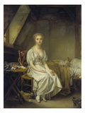 Lamentations of the Clock, about 1775 Giclee Print by Jean Baptiste Greuze
