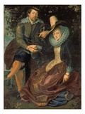 Rubens Und Isabella Brant in a Honeysuckle Bower, about 1609 Giclee Print by Peter Paul Rubens