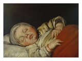 Sleeping Child Lámina giclée por Bernardo Strozzi