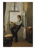 The Violinist at the Window, 1861 Giclee Print by Otto Franz Scholderer