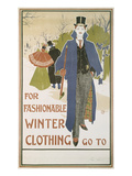 Von Louis John Rhead (1857-1913) for Fashionable Winter Clothing Giclee Print by Louis John Rhead