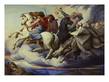 The Horsemen of the Apocalypse, 1838 Giclée-Druck von Edward Jakob Von Steinle
