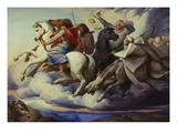 The Horsemen of the Apocalypse, 1838 Giclee Print by Edward Jakob Von Steinle