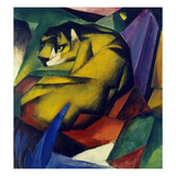 The Tiger, 1912 Gicléetryck av Franz Marc