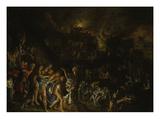 Der Brand Von Troja (Aeneas Traegt Seinen Vater Aus Dem Brennenden Troja) Giclee Print by Adam Elsheimer