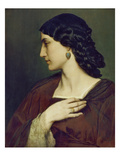 Portrait of Nanna Risi, 1861 Prints by Anselm Feuerbach