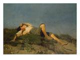 A Shepherd Boy, 1860 Art by Franz Seraph von Lenbach