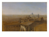 View of St. Peter in Rome as Seen from the Villa Malta, 1818 Giclee Print by Johann Georg von Dillis