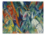 In the Rain, 1912 Gicleetryck av Franz Marc