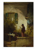 The Morning Paper, about 1850/55 Gicleetryck av Carl Spitzweg